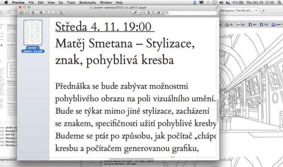 Openeye15 Matej Smetana Stylizace Znak Pohybliva Kresba Artmap