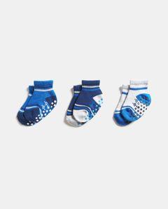 Dětské ponožky s protiskluzovou úpravou, 3-pack