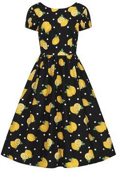 Šaty Demira Polka Lemon