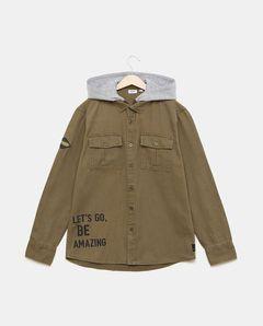 Chlapecká košile s kapucí