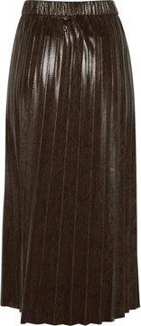 Plisovaná sukně s efektem hadí kůže Emila
