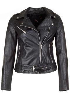 Dámský kožený křivák, biker jacket