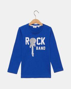 Tričko s flitrovaným obrázkem Rock Band