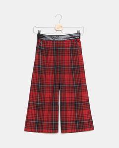 Dívčí tartanové kalhoty
