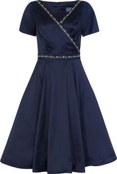 Saténové šaty s rozšířenou sukní Ariana