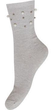 Dámské třpytivé ponožky s perličkami