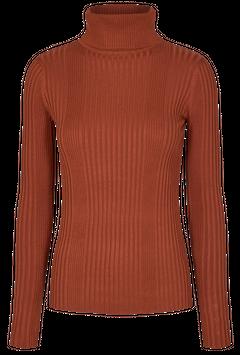 Žebrovaný svetr s rolákem Roca