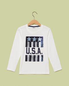 Tričko s flitrovaným obrázkem USA