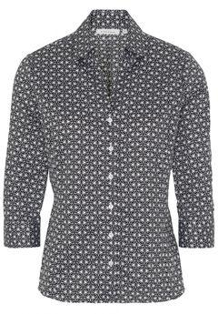 Vzorovaná košile s třičtvrtečním rukávem
