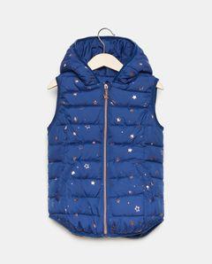 Dívčí vesta s kapucí s hvězdičkami