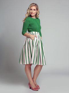 Kolová sukně Jasmine Strawberry