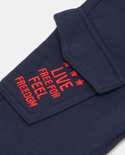 Teplákové kapsáčové kalhoty
