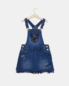 Dívčí džínová sukně s laclemi