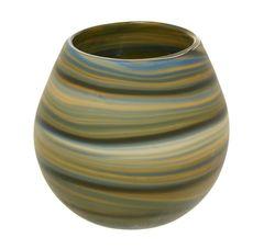 Skleněná ručně vyráběná váza, 12 cm