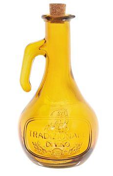 Skleněná láhev na ocet, 21 cm