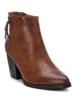 Dámské kotníkové boty na širokém podpatku