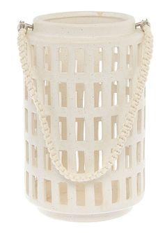 Keramická lucerna s rukojetí, 37 cm