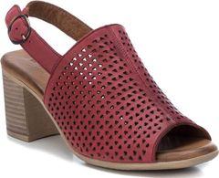 Perforované sandály na širokém podpatku