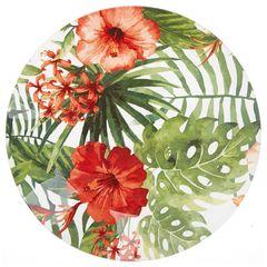 Skleněný talíř Floreale, 21 cm