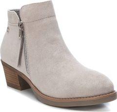 Kotníčkové boty na nízkém podpatku se zipem
