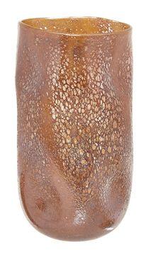 Skleněná ručně vyráběná váza, 37 cm