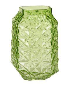 Skleněná ručně vyráběná váza, 29 cm
