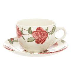 Keramický šálek s podšálkem růže
