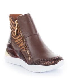 Kotníkové boty se zvířecím motivem