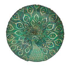 Skleněná mísa páv, 40 cm