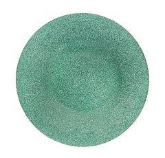 Skleněný třpytivý talíř, 21 cm