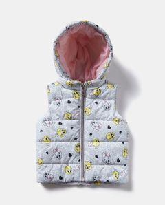 Prošívaná vesta s kapucí Tweety