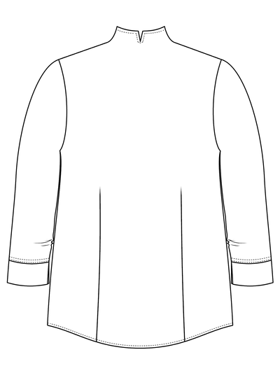 Košile s třičtvrtečním rukávem a saténovým vzorkem