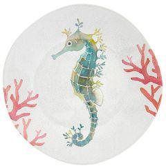 Melaminový talíř mořský koník, 21 cm