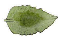 Dekorativní skleněný podnos, 35 cm