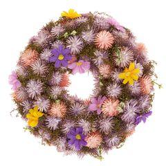Věnec se sušených a umělých květů, 25 cm
