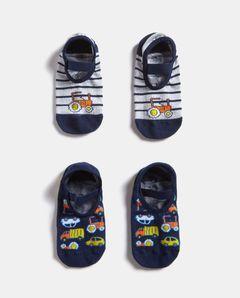 Dětské ponožky s protiskluzovou úpravou, 2-pack