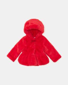 Dívčí kabátek z umělé kožešiny