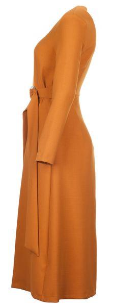 Midi šaty s páskem