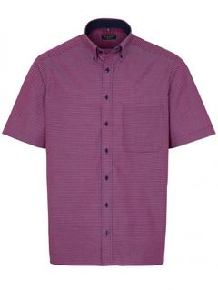 Pánská comfort fit popelínová košile s krátkým rukávem
