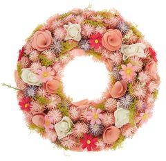 Věnec se sušených a umělých květů, 33 cm