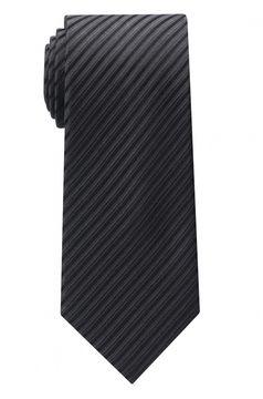 Hedvábná kravata s jemným proužkem, široká
