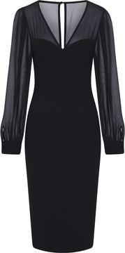 Pouzdrové šaty s šifonovými rukávy Arionna