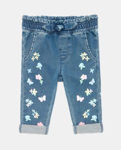 Měkké džíny s elastickým pasem