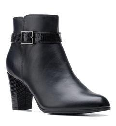 Kotníkové boty na širokém podpatku Alayna Juno