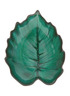 Mělká skleněná mísa Foglia, 21 cm
