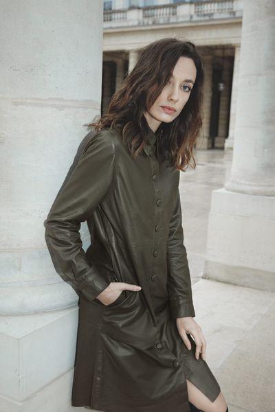 Kožené šaty Dara