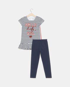 Dívčí souprava, legíny + tričko s flitry