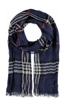 Mačkaný tartanový šátek