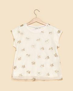 Dívčí tričko s flitrovými hvězdičkami