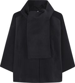 Krátký kabátek s šálou